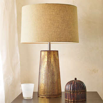 Fluted Glass Table Lamp