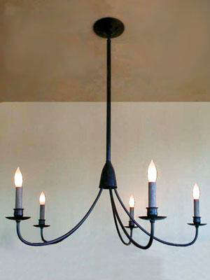 Simple Whispy Arm Candle Chandelier