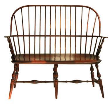 Below: Windsor Sackback Bench; $1,350.