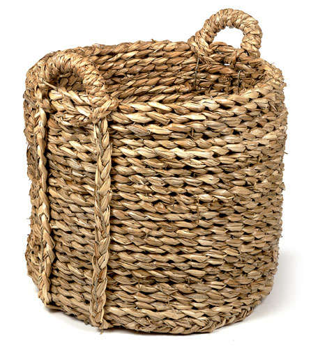 How To Weave A Basket Out Of Cattails : Woven log basket