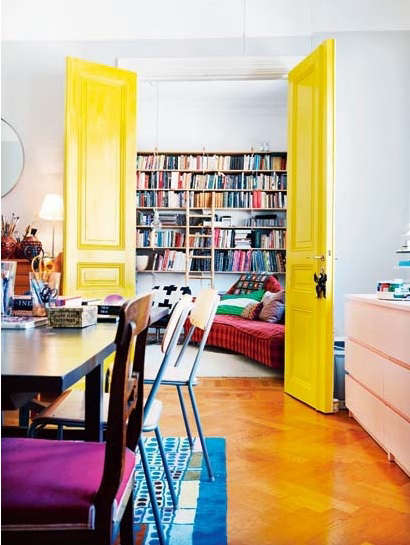Palette & Paints: Yellow Interior Doors - Remodelista