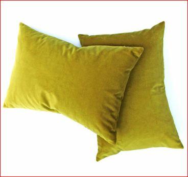 Yellow Velvet Pillow Set