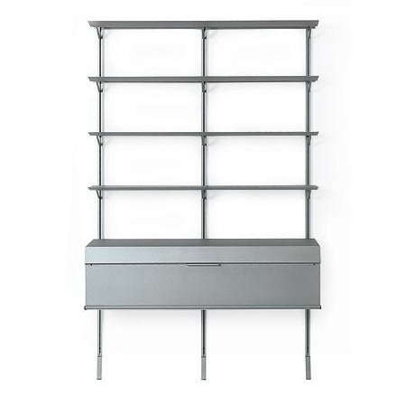 10 easy pieces shelving systems remodelista. Black Bedroom Furniture Sets. Home Design Ideas