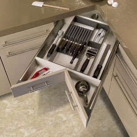 We Are Enamored Of This Space Corner Solution From Heritage Cabinetry For  That Awkward Corner In The Kitchen Cabinetry. Easily Recreated With The  Help Of A ...