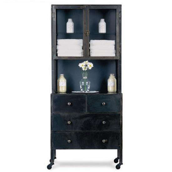 Above: Another Option Is The KNF Double Metal Cabinet With Display; $1,645  From Iron Accents.