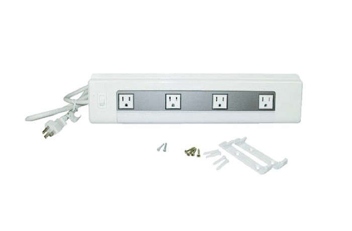 4 Outlet Kitchen Cabinet Power Strip