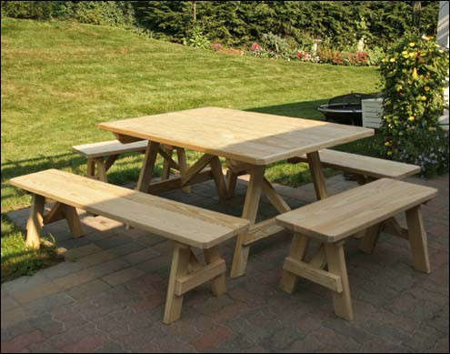 Treated Pine Wide Picnic Table