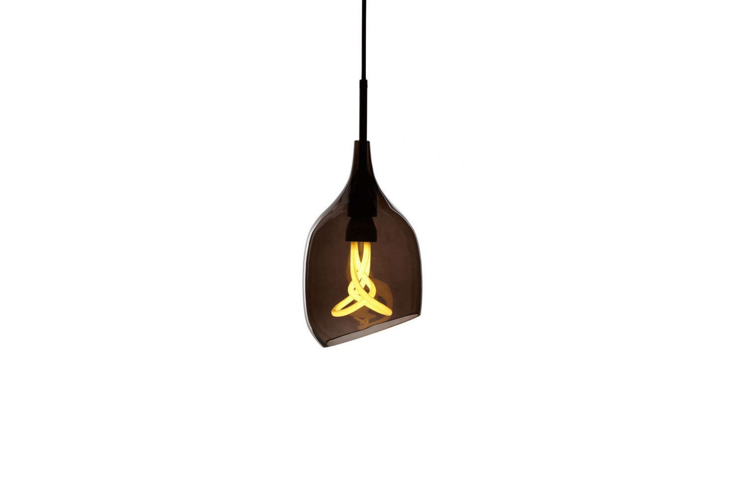 The Decode Vessel Pendant in Smoke Gray is $325 at Horne.