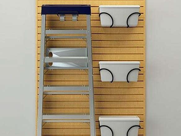 Flow Wall Ladder Hook And Bin Bracket Combo