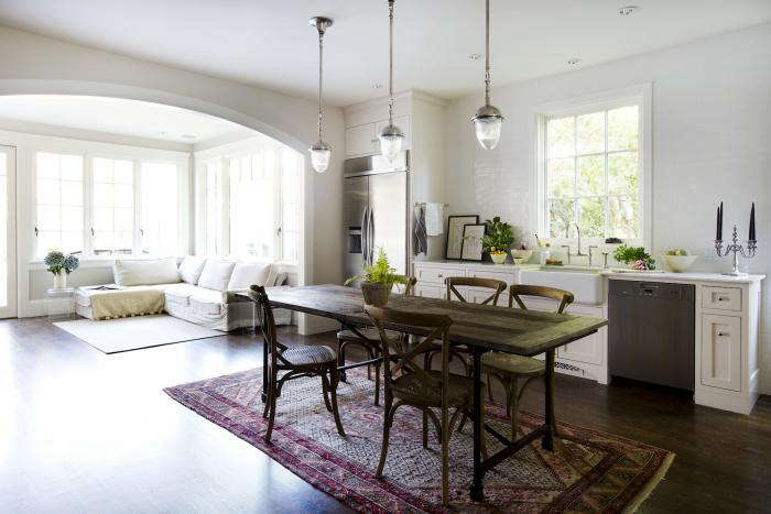 Michelleu0027s Mill Valley, California, Kitchen, With A Dining Table In Place  Of The