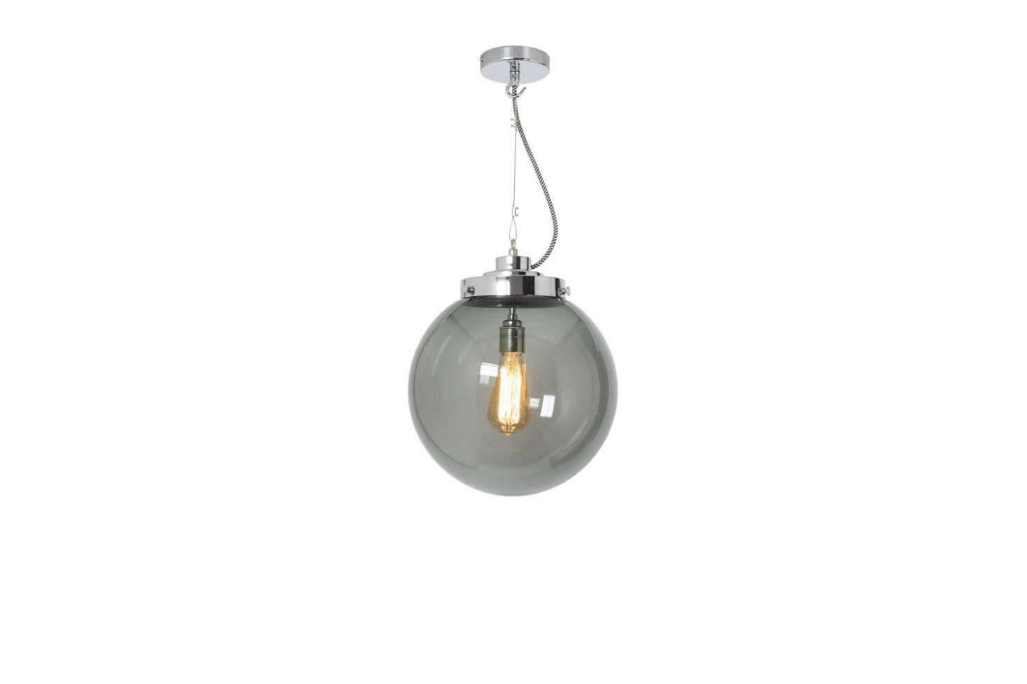 Made by British lighting company Original BTC, the Brume Pendant comes in three sizes; $839 to $1,499 at Original BTC.