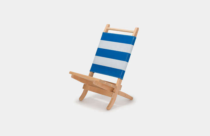AOO Barcelona'sPepitu Deck Chair folds compactly for travel; €349.
