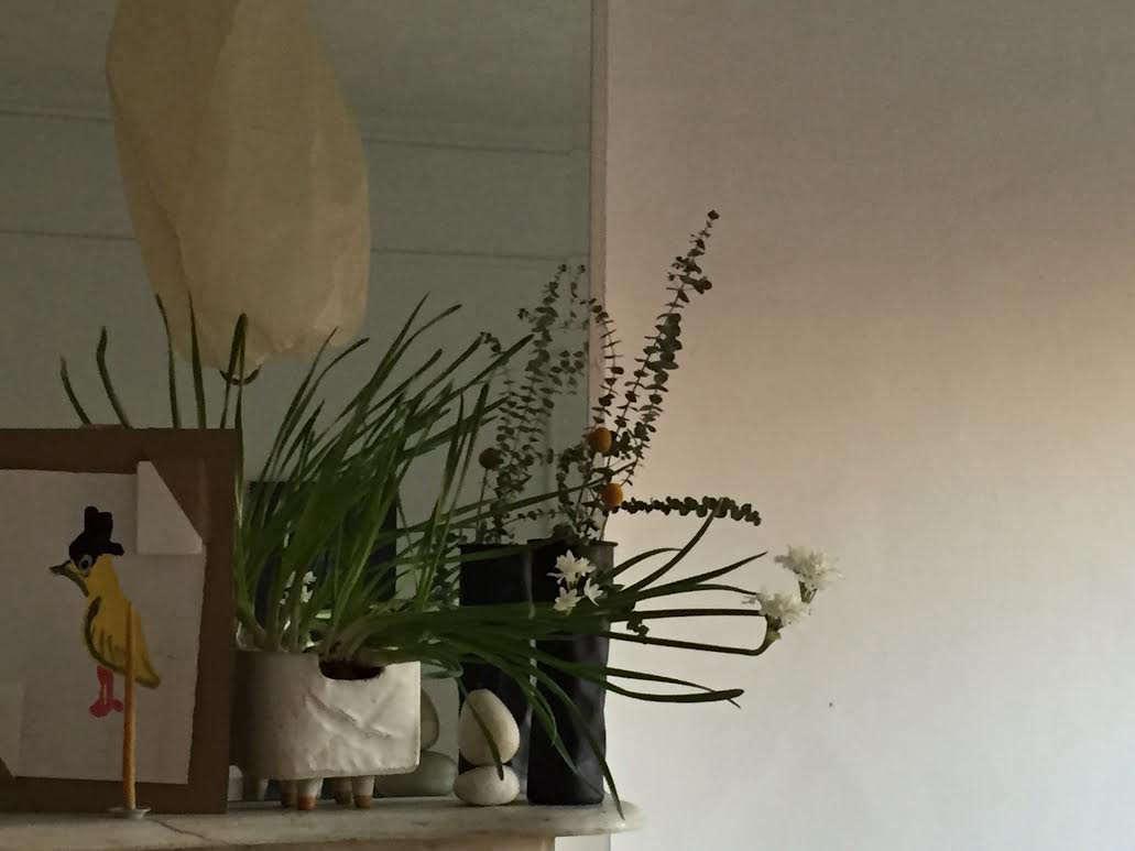 Designer Corinne Gilbert mantel still life | Remodelista