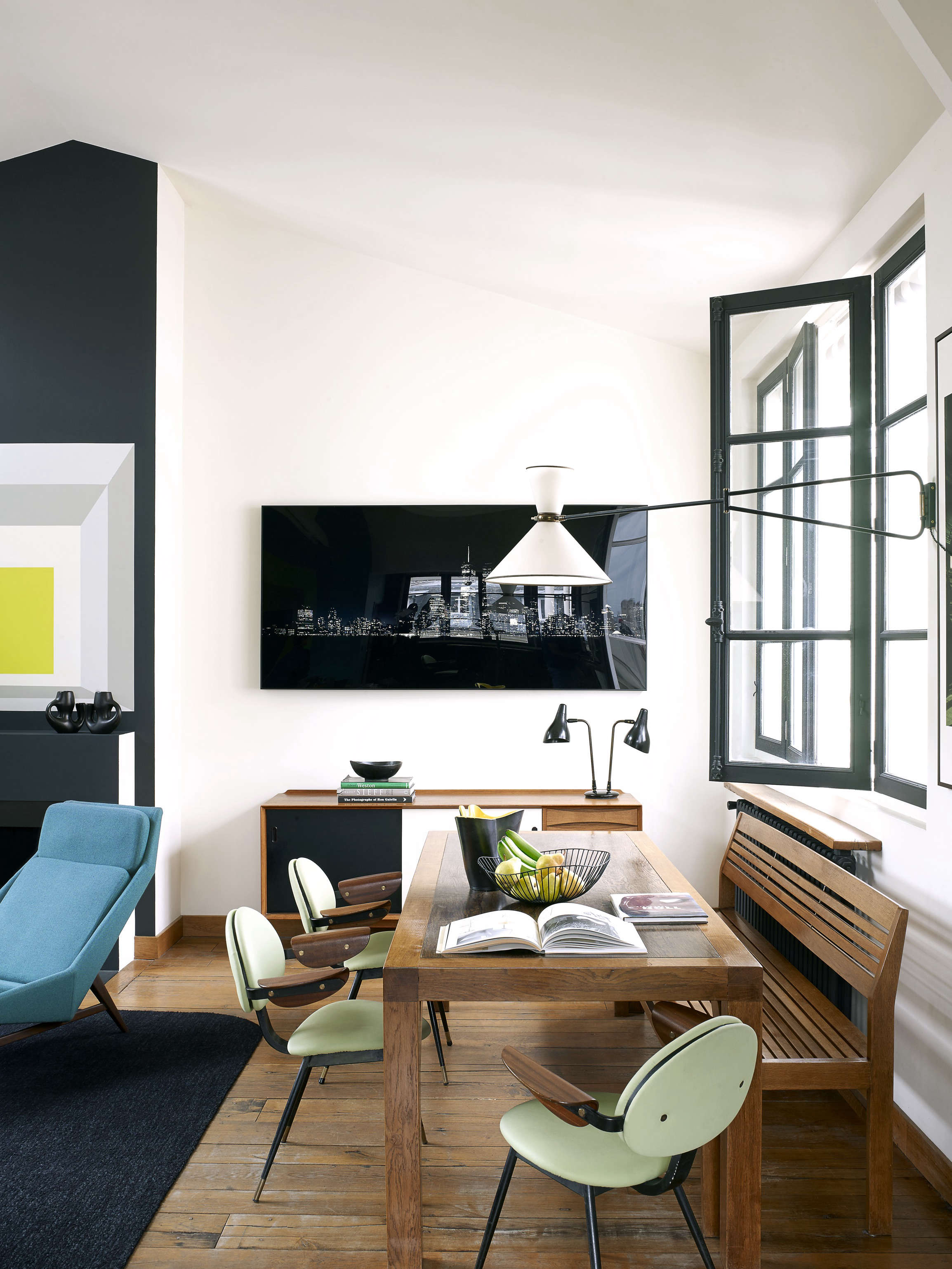 A Model at Home A Paris Loft Inspired by Josef Albers Remodelista