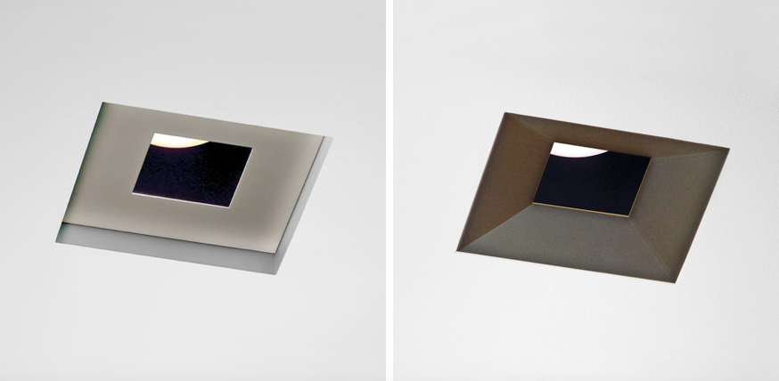 8 Lighting S Led Ceiling Lights In Two Square Options Satin Nickel And Oil