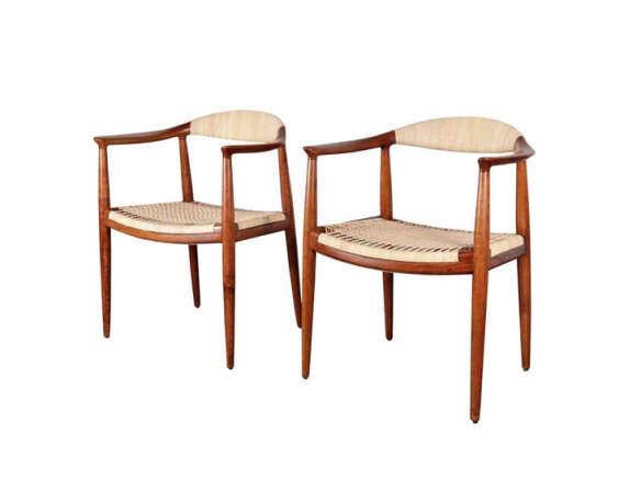 sc 1 st  Remodelista & Hans Wegner Cane Round Chairs