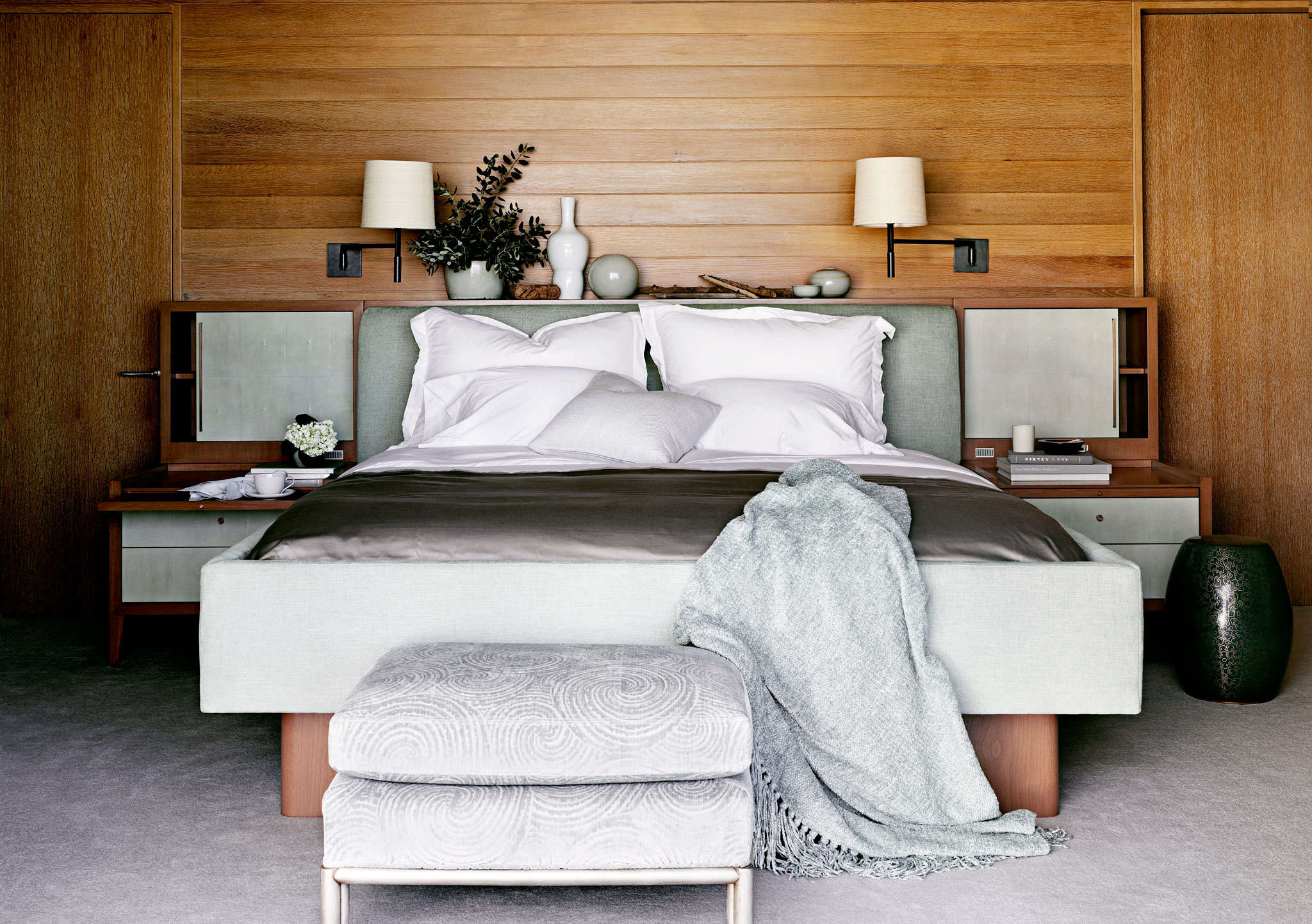 Above: A Textural Malibu Bedroom From Barryu0027s Portfolio.