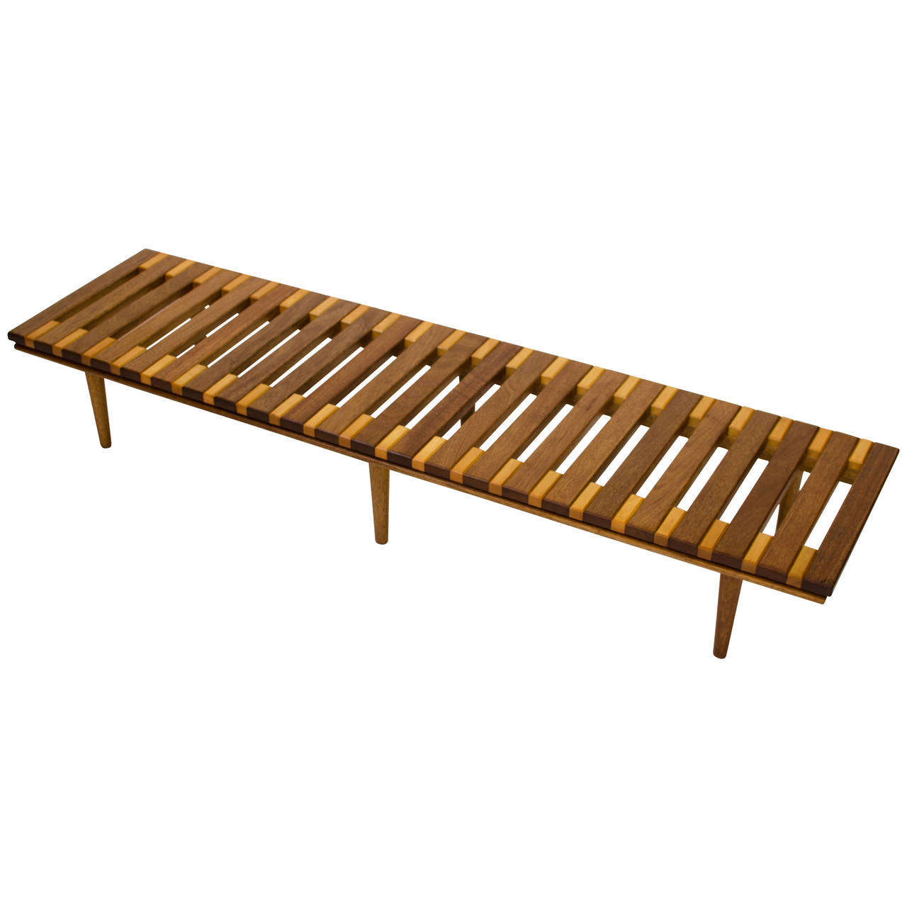 A Mahogany John Keal Slat Bench For Brown Saltman Previously Available From  Just In Modern