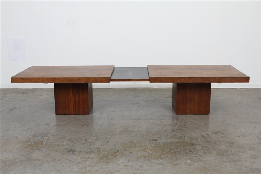 Beau This John Keal Expanding Coffee Table For Brown Saltman Is Made Of Walnut  And Black