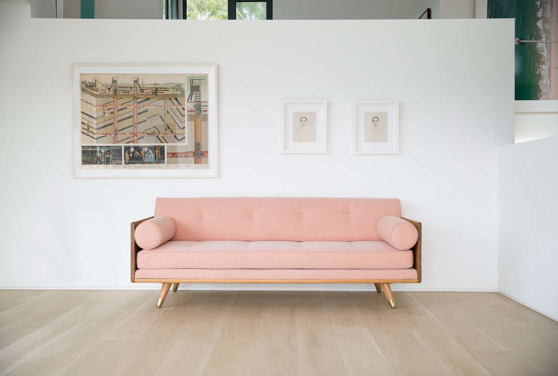 Kalon Studios No 5 Series Pink Sofa Remodelista