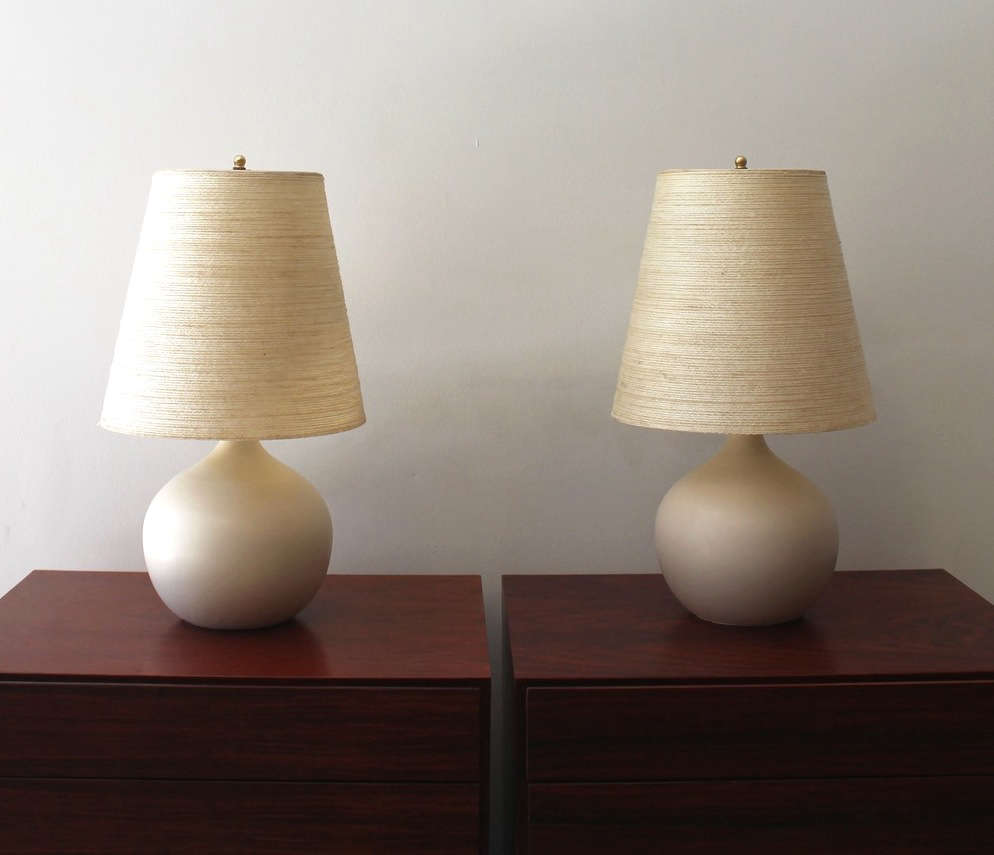 An midcentury lighting company in canada by way of denmark lotte lamps pair remodelista geotapseo Images