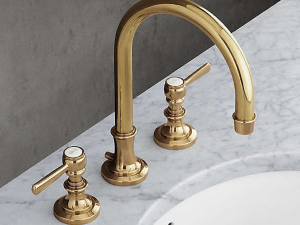 Lugarno Lever Handle Gooseneck Faucet Set