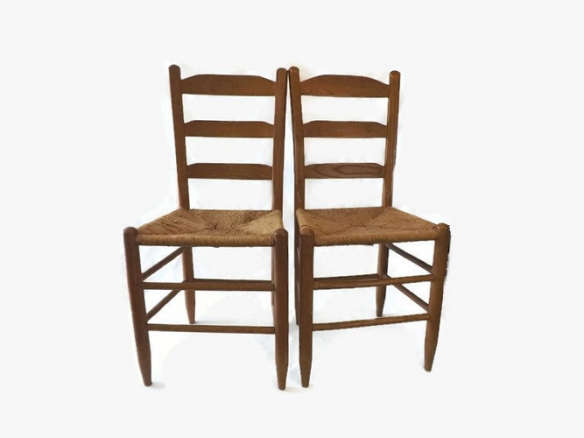 farmhouse chairs ladder back with wooden seats urban unfinished oak
