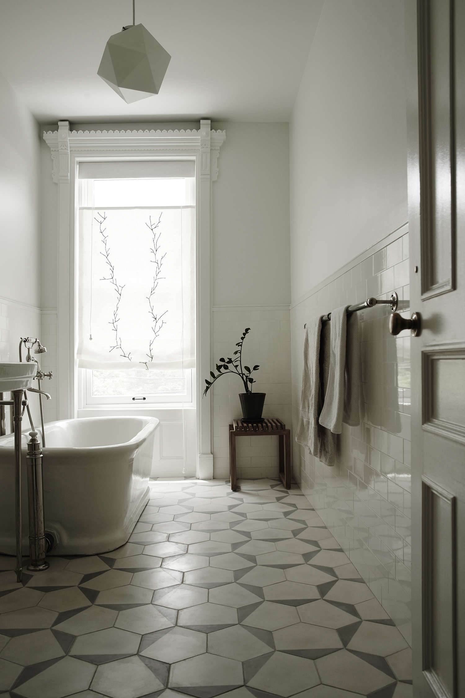 Best Above Claesson Koivisto Rune udesigned Casa Series cement tiles from Marrakech Design pattern a guest bath which like all the house us baths
