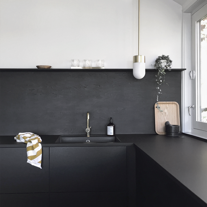 kitchen upgrade the low cost diy black backsplash remodelista
