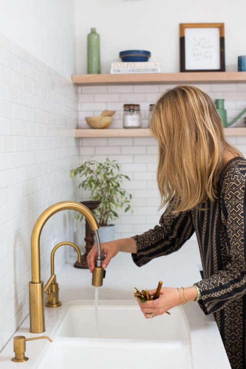 Newport Brass NB1500 5103 26 East Linear Pull Down Kitchen Faucet
