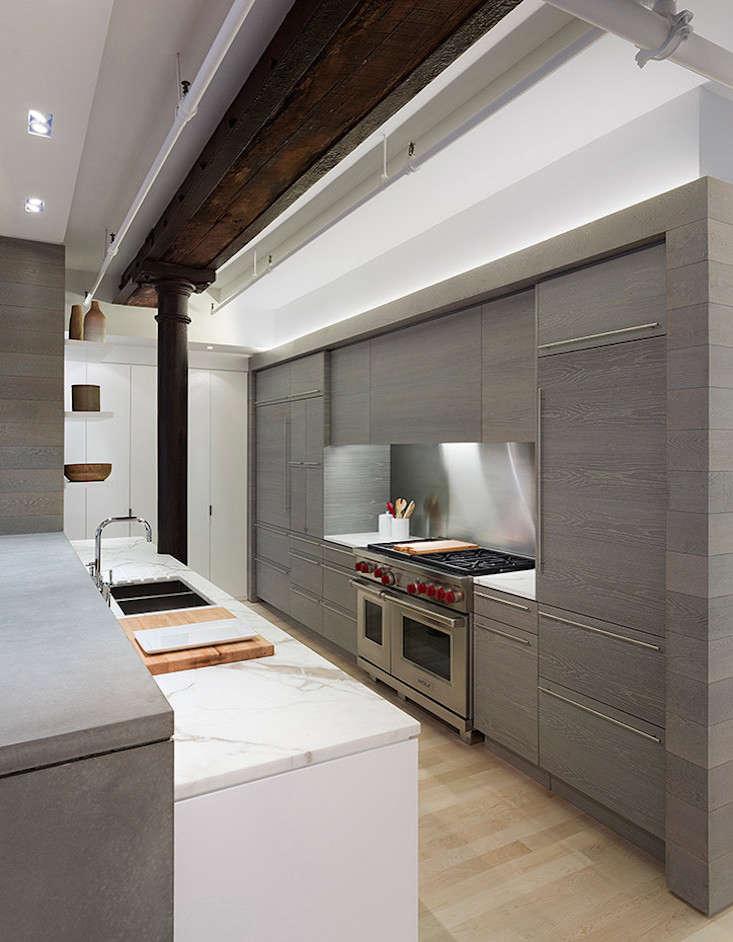 Marble And Concrete Counters In Leone Design Studio Kitchen