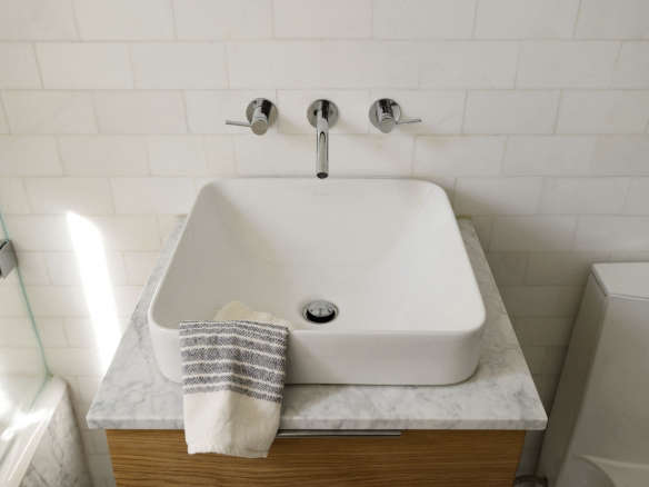 Vox Rectangle Vessel Above Counter Bathroom Sink