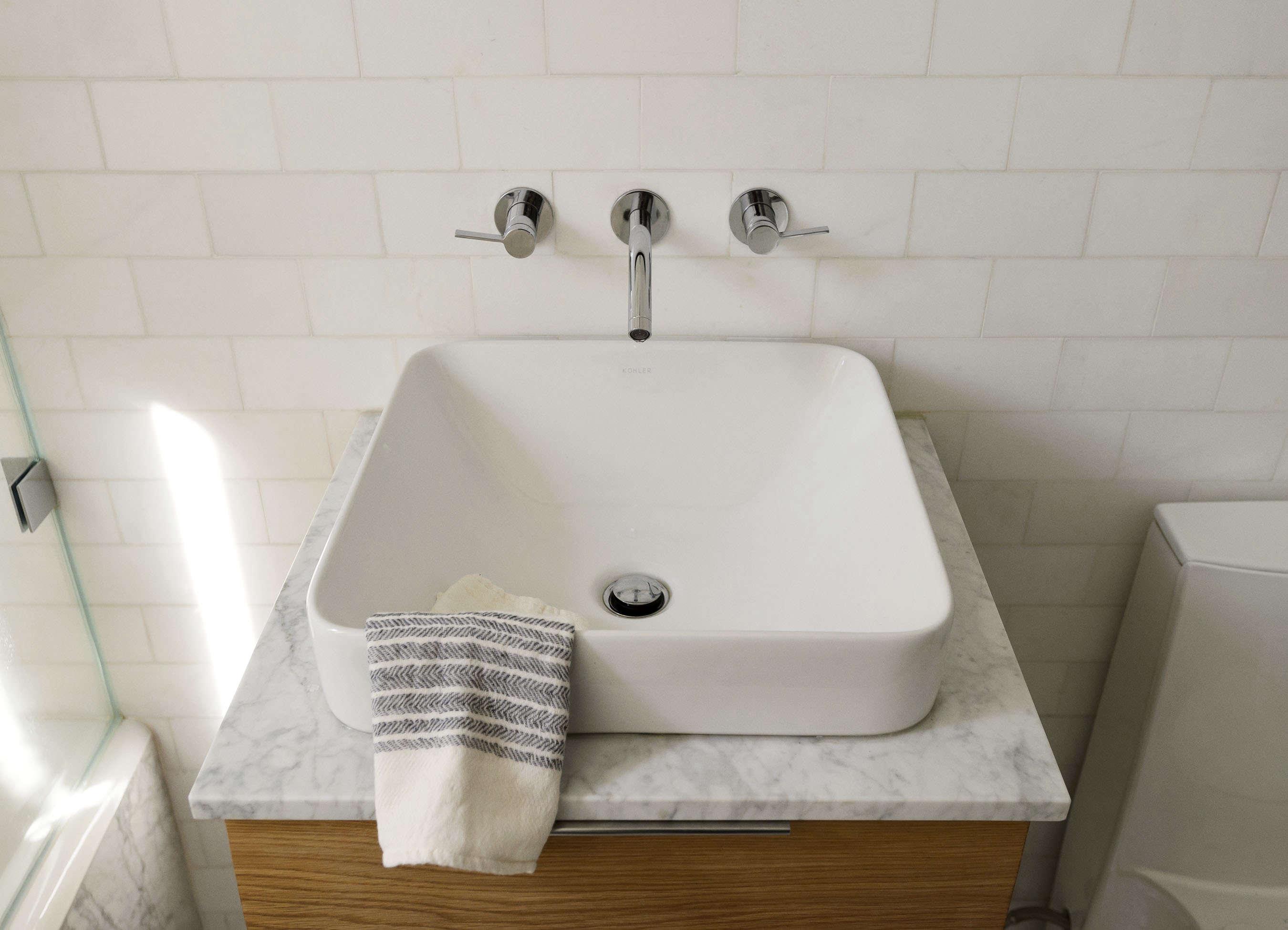 Vox Rectangle Vessel AboveCounter Bathroom Sink - Remodelista bathroom