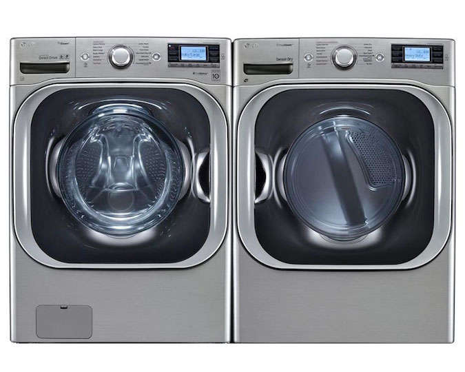 lg wm8500hva 52 doe cu ft front load washer with steam
