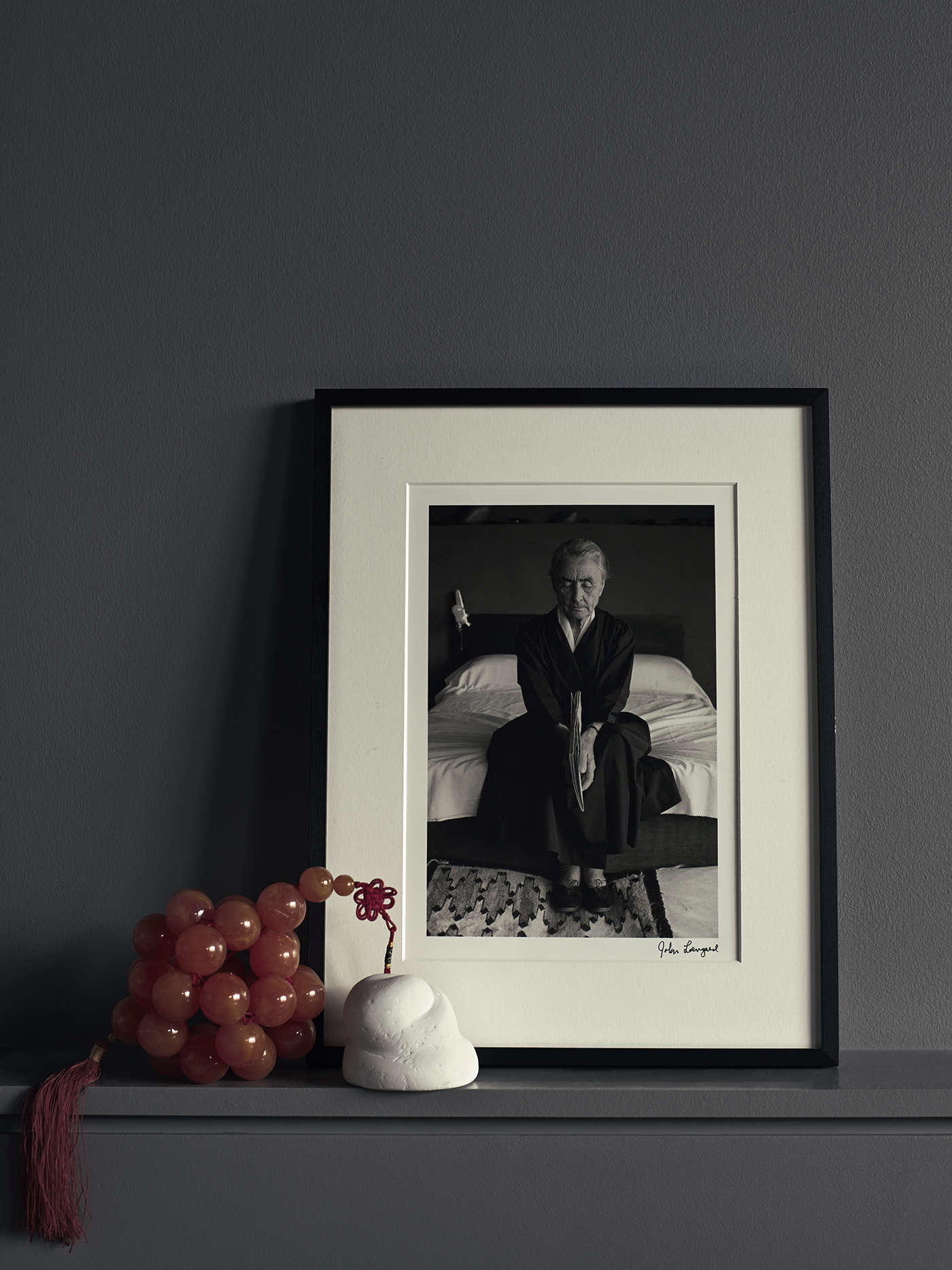 Photograph of Georgia O'Keefe in photographer Pia Ulin's Brooklyn loft remodeled by Bangia Agostinho Architecture |Remodelista