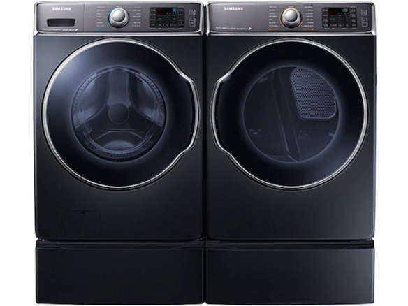 Washers and dryers samsung 4 8 cu ft front load washer and 7 5 cu - 10 Easy Pieces Stackable Washer Dryers Remodelista