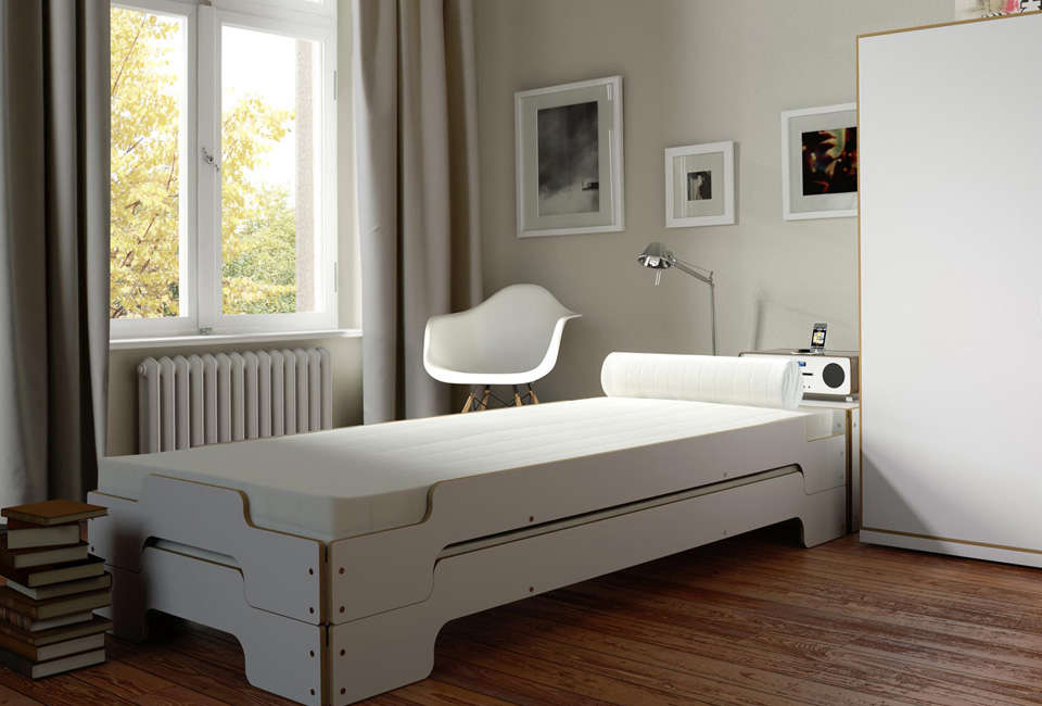 stackable guest beds for small spaces rolf heide s. Black Bedroom Furniture Sets. Home Design Ideas