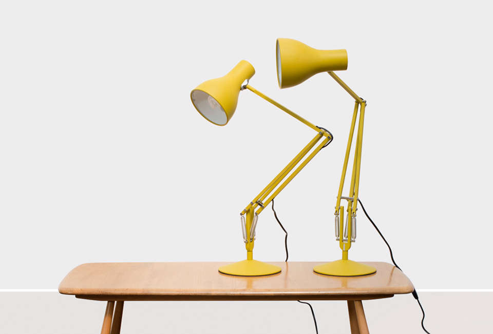 The Margaret Howell Anglepoise Type 75 Lamp In Yellow Ochre Is $515 NZD  ($350 USD