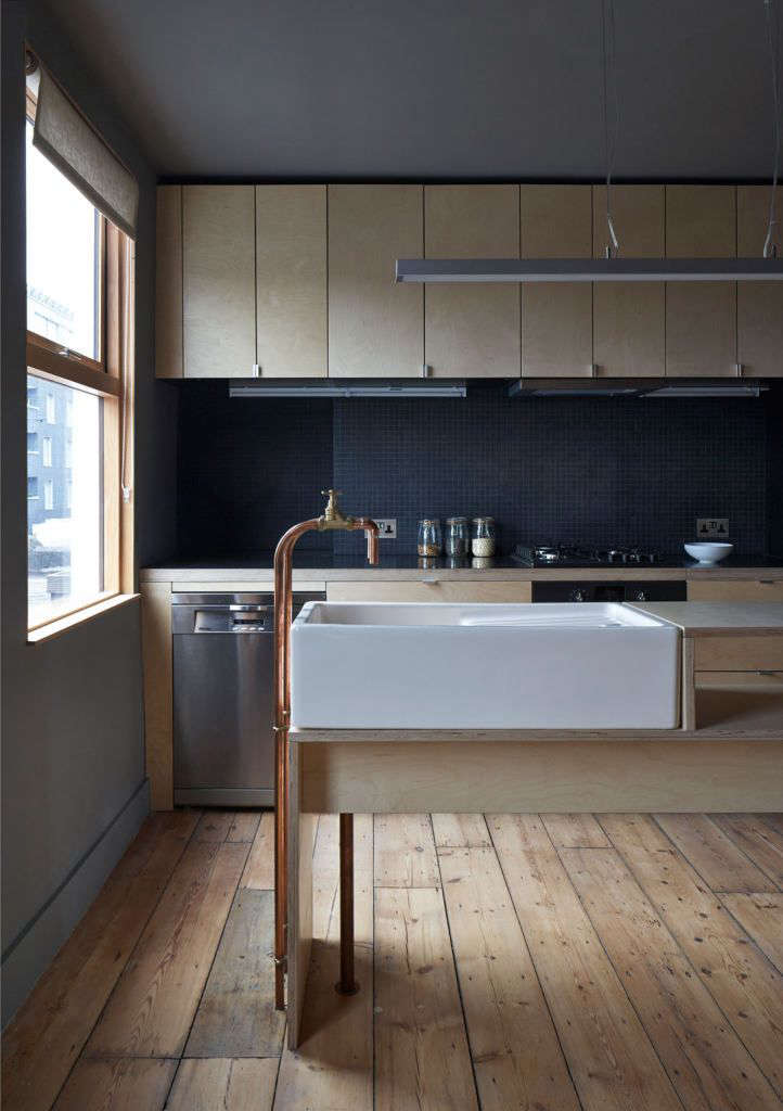 Trend alert 10 diy faucets made from plumbing parts remodelista kitchen with diy standing copper faucets by architect jonathan tuckey remodelista solutioingenieria Images