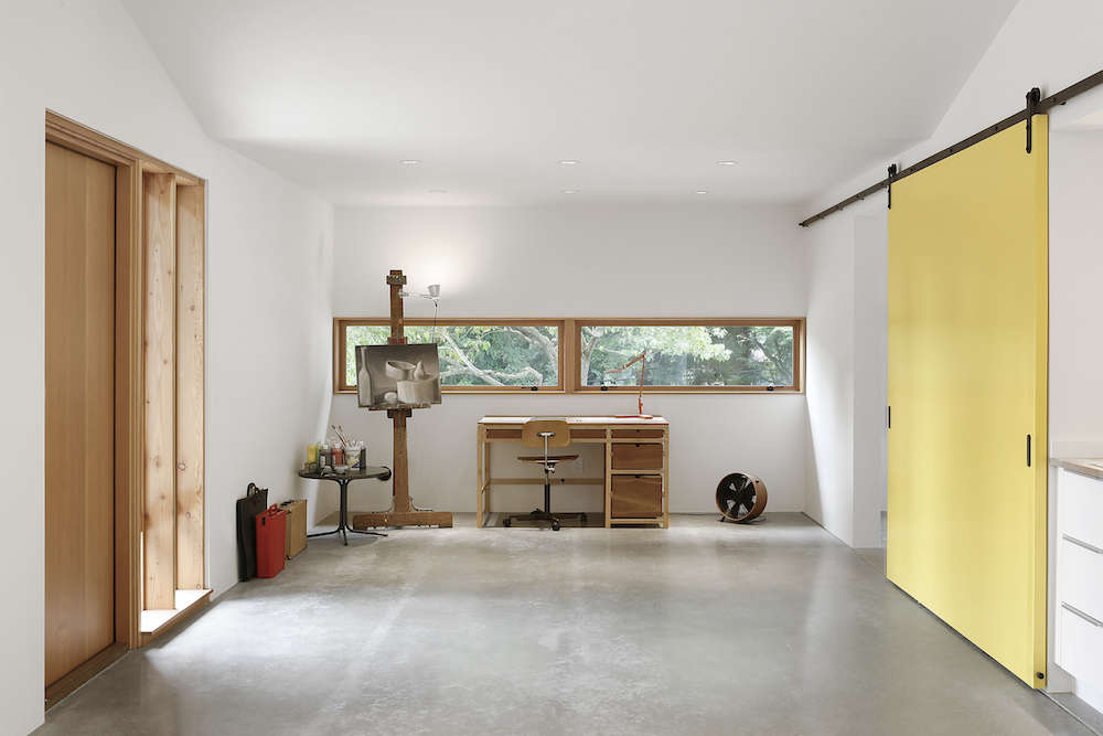 Looking Ahead Looking Back 10 Years of Remodelista Sliding barn doors in Before/After: A Stable to Work Studio Conversion in Kirkland, Washington.