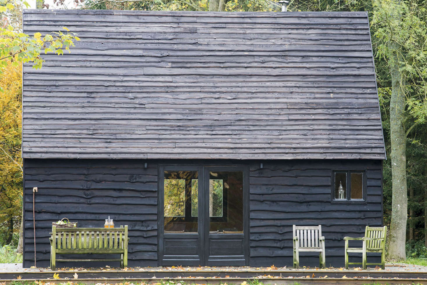 Woodland cabin in Belgium designed and built by London architecture firm De Rosee Sa Architects | Remodelista