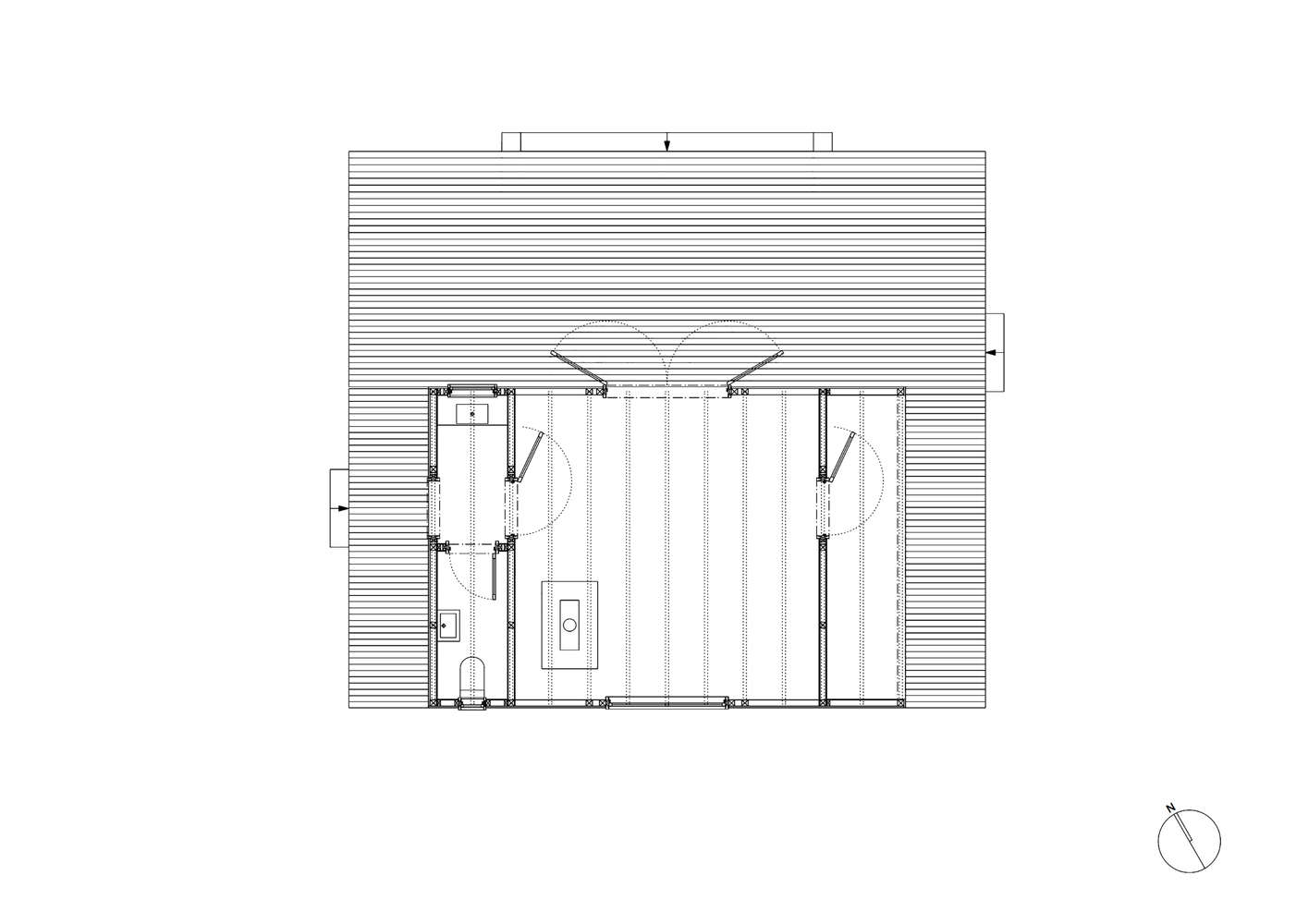 Woodland cabin in Belgium floor plan, designed and built by London architecture firm De Rosee Sa Architects | Remodelista