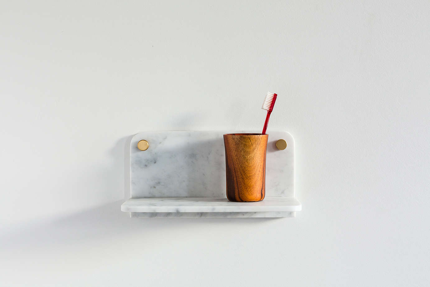 Fort Standard Small Marble Shelf Remodelista