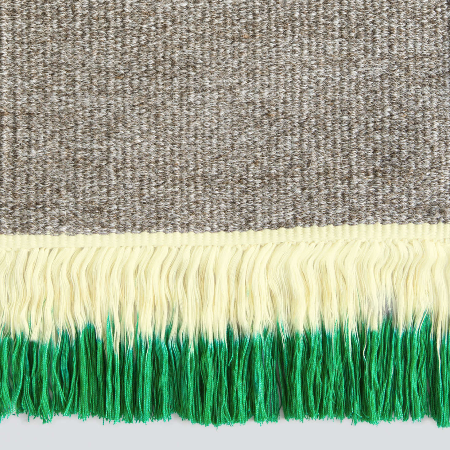 Dip-Dyed Fringe Rugs From Sweden