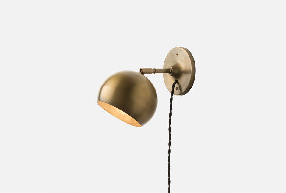 10 easy pieces plug in wall task lights remodelista schoolhouse electric isaac plug in wall sconce aloadofball Images