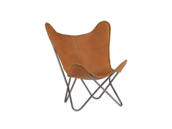 1938 Tobacco Leather Butterfly Chair Remodelista 584x438