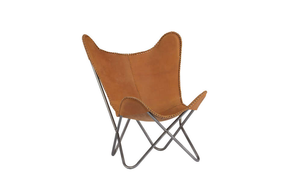 1938 Tobacco Leather Butterfly Chair Remodelista