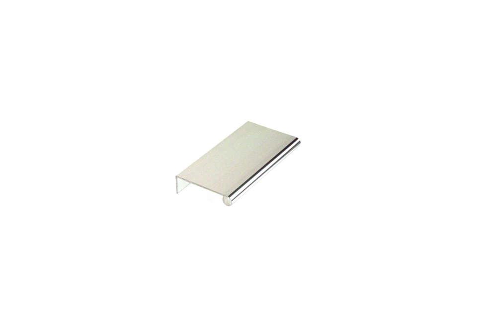 Aluminum Edge Pull in Polished Aluminum
