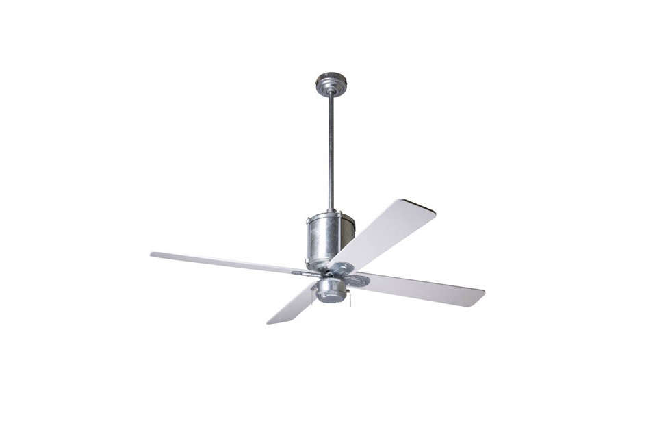 10 easy pieces ceiling fans remodelista the industry fan by the modern fan company in galvanized steel 412 at ylighting aloadofball Choice Image