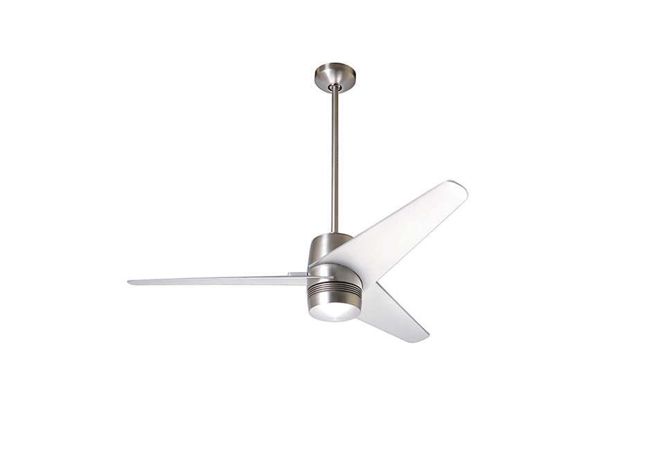 The Energy Star Approved Velo Ceiling Fan Comes In Nickel Shown And White